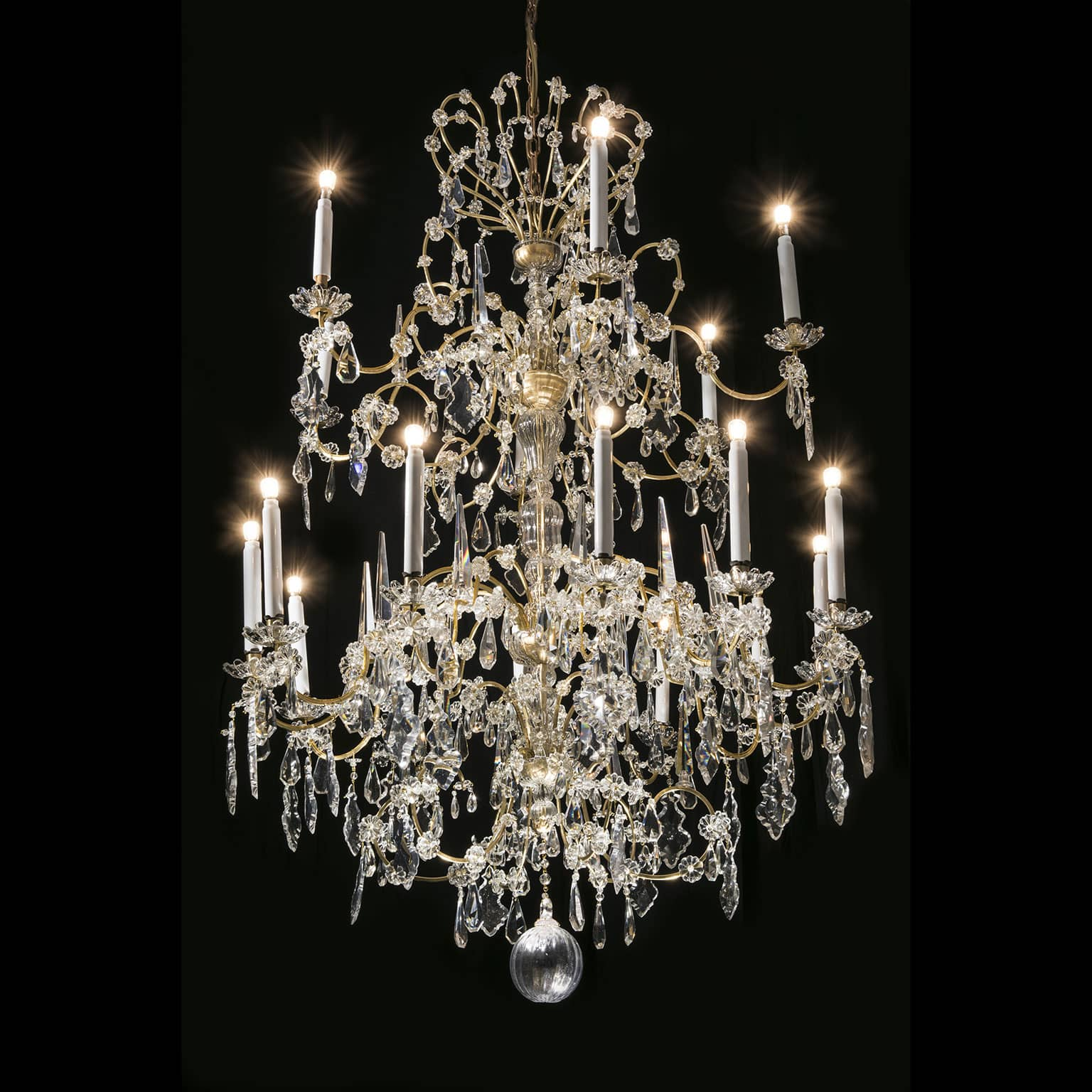 bohemian lighting. 19th Century Italian Bohemian Crystal 18 Light Chandelier Lighting I