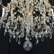Grande Lampadario Antico in Cristallo 2