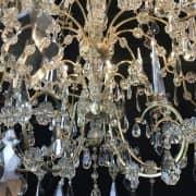 Grande Lampadario Antico in Cristallo 4