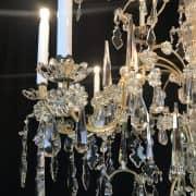 Grande Lampadario Antico in Cristallo 7