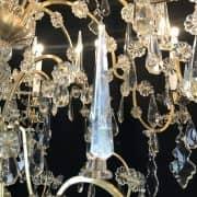 Grande Lampadario Antico in Cristallo 9