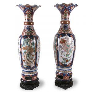 Coppia di Grandi Vasi Imari in Porcellana 1800