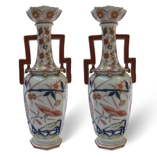 Coppia di Vasi Francesi in Porcellana 1800