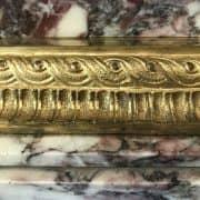 colonna portavaso in marmo e bronzo dorato 2