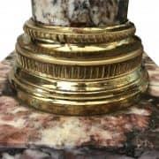 colonna portavaso in marmo e bronzo dorato 3
