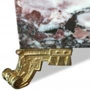 colonna portavaso in marmo e bronzo dorato 4