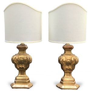 Pair of antique Italian Bedside Lamps