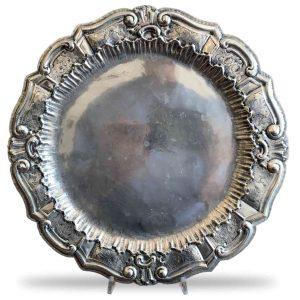 Piatto in Silver Plated Sbalzato e Cesellato inizi 1900
