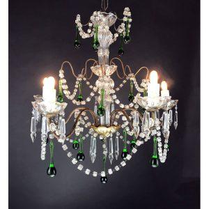 lampadario-cristallo-verde