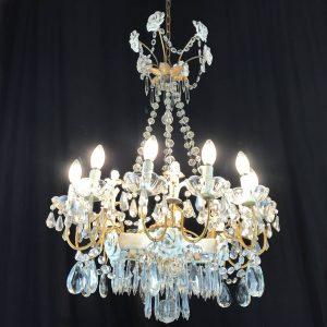 Lampadario-in-cristallo-e-porcellana-a-12-fiamme-A249