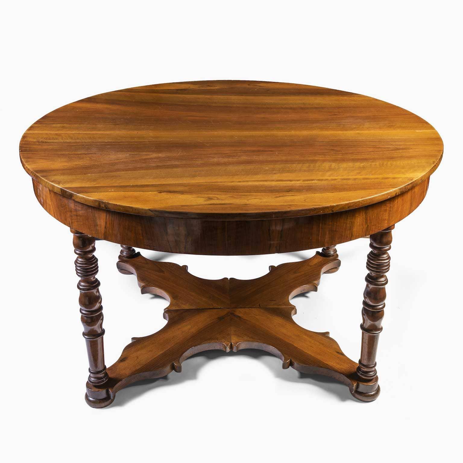 Tavolo antico da pranzo in noce allungabile del 1800 - Tavolo sala da pranzo ...