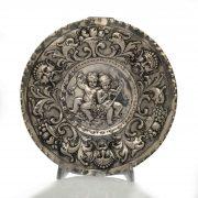 piatto argento bambini grottesche 1800
