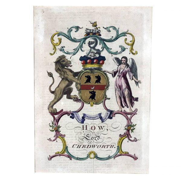A. Jacobs, Stemma della famiglia Chedworth, 1766-69