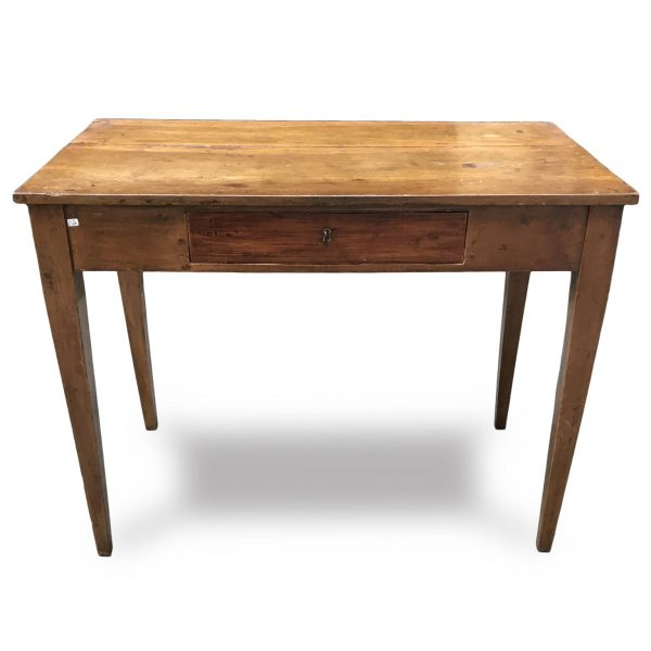 Tavolo antico in noce con cassetto