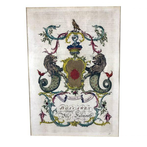A. Jacobs, Stemma della famiglia Salmouth, Londra 1766-69