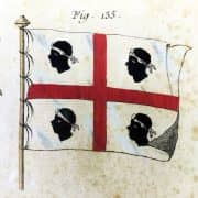 Bandiere Navali dall'Enciclopedia di Diderot e D'Alembert, 1770 circa d