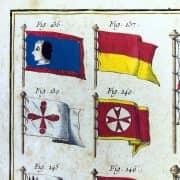 Bandiere Navali dall'Enciclopedia di Diderot e D'Alembert, 1770 circa f