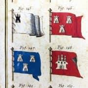 Bandiere Navali dall'Enciclopedia di Diderot e D'Alembert, 1770 circa g