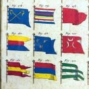 Bandiere Navali dall'Enciclopedia di Diderot e D'Alembert, 1770 circa e