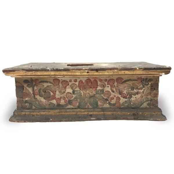 Basamento Antico in Legno Dipinto 1600