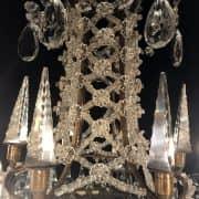 Lampadario in Bronzo e Cristallo con Obelischi 3