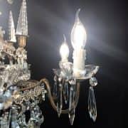 Lampadario in Bronzo e Cristallo con Obelischi 5