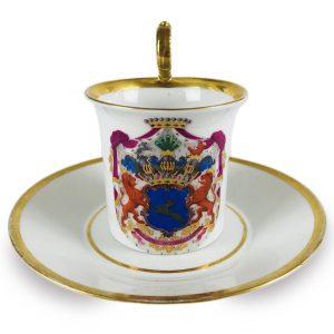 Tazza in Porcellana di Berlino donata da H. von Maltzan nel 1847