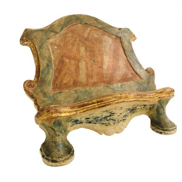 Leggio da Tavolo Barocco Laccato e Dorato Fine 1700