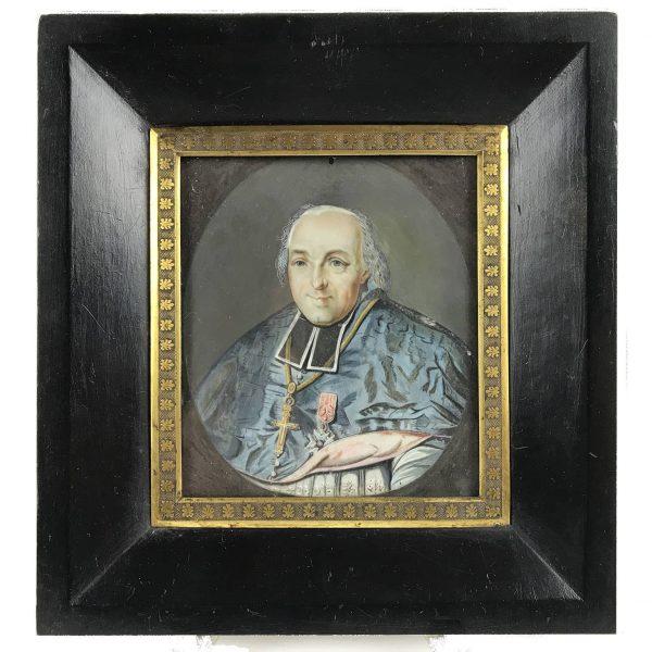 Miniatura di Prelato del 1800