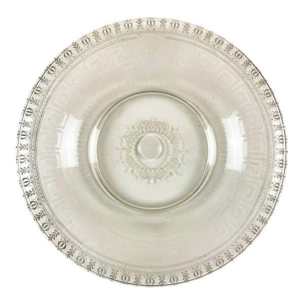 Piatto Circolare in Vetro inciso del 1800