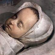 Ritratto del 1800 di Neonato Dormiente 1
