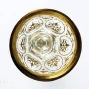 Bicchiere-Austriaco-in-Vetro-con-Base-Polilobata-Decorato-in-Oro-fine-1800-3