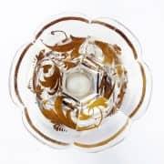 Bicchiere-Austriaco-in-Vetro-con-Base-Polilobata-Decorato-in-Oro-fine-1800-4