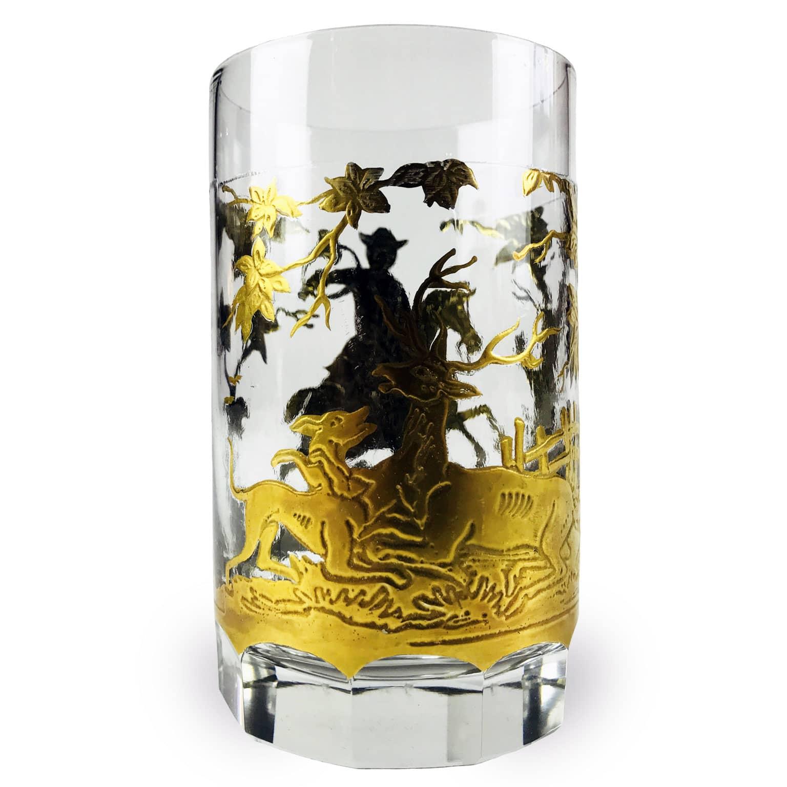 Bicchiere-Tondo-con-Scene-di-Caccia-in-Oro-fine-1800-2