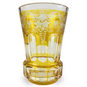 Bicchiere-di-Boemia-in-Cristallo-Molato-della-fine-del-1800