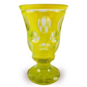 Bicchiere alll'ossido d'uranio degli inizi del 1900