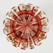 Bicchiere in Cristallo Color Rubino con Scena di Caccia Dipinta 3