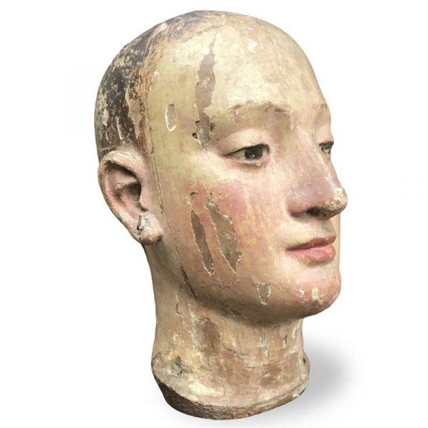 Scultura Antica Testa di Manichino 1700