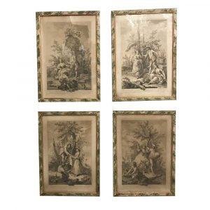 Jacopo Amigoni i Quattro Elementi della Terra Acquaforte del 1700 h
