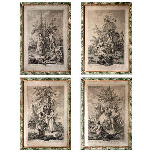 Jacopo Amigoni Allegory of the Four Elements Set of Four 18th Century Engravings