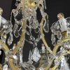 lampadario maria teresa in cristallo a 7 luci del 1950 h