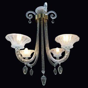lampadario vetro soffiato anni quaranta