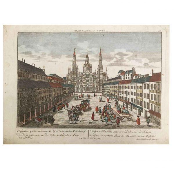 George Baltasar Probst Prospetto della Parte Anteriore del Duomo a Milano 1760 circa