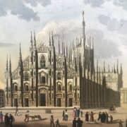 Veduta esterna del Duomo di Milano del 1830 circa 1
