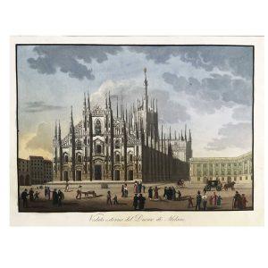 Veduta esterna del Duomo di Milano del 1830 circa