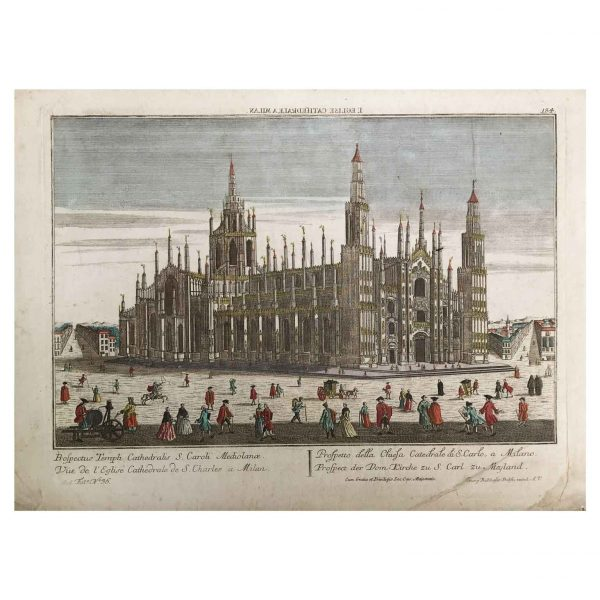 George Baltasar Probst Veduta del Duomo di Milano 1760 circa