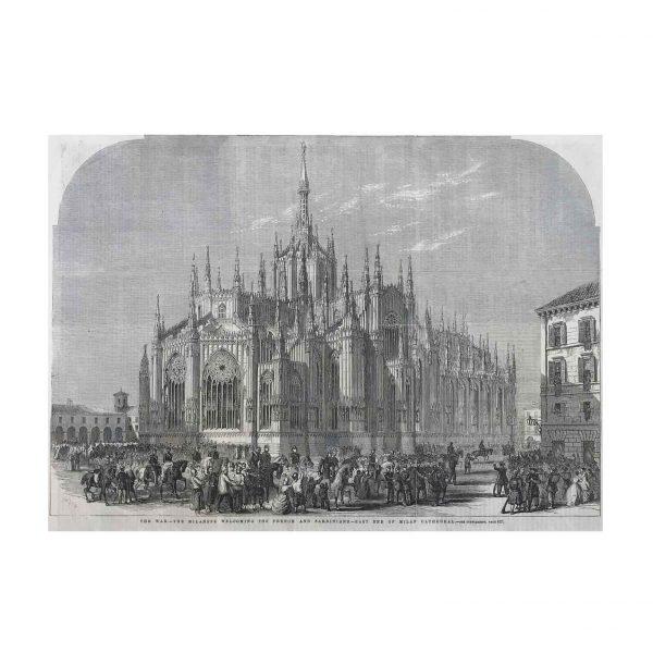 Arrivo dei francesi e dei piemontesi in Piazza Duomo 1859