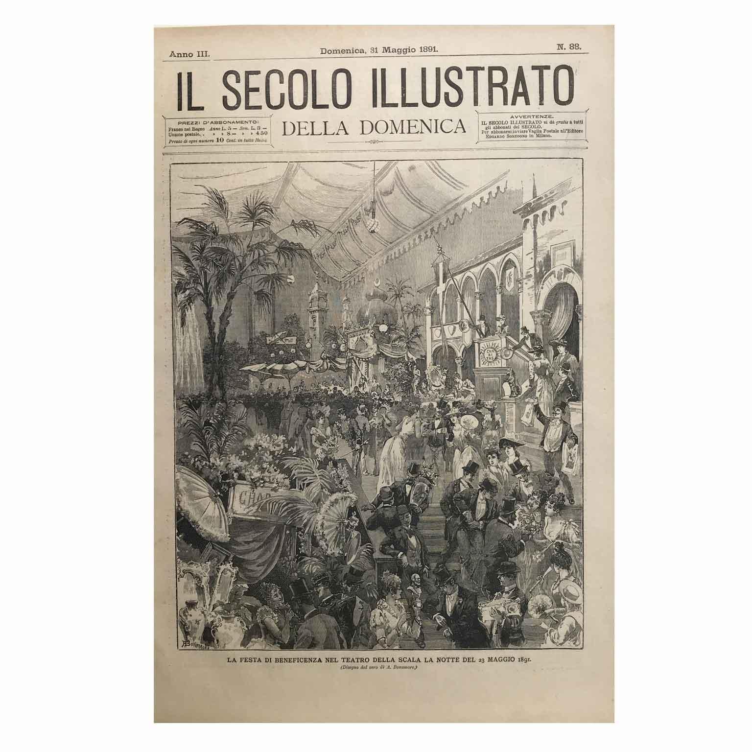 La festa di beneficenza nel Teatro della Scala la notte del 23 Maggio 1891