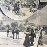 Il Parco Sempione a Milano nel 1895 dal Secolo Illustrato della Domenica b
