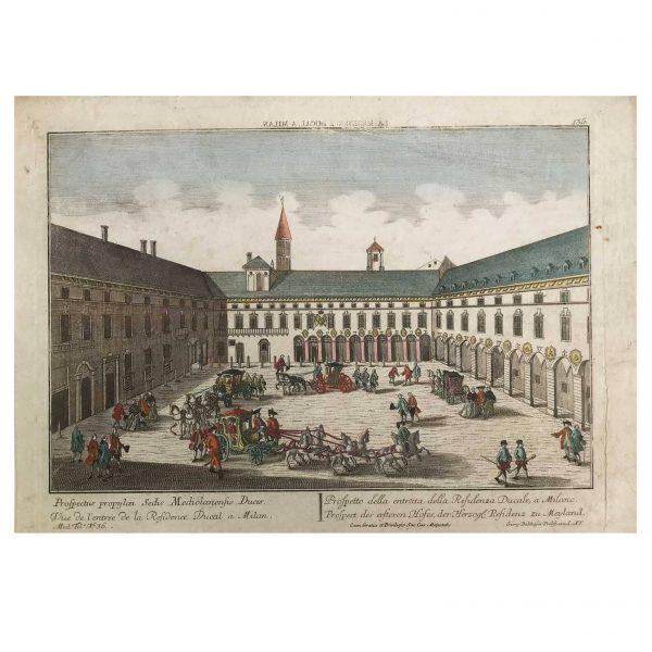 George Baltasar PROBST La Residenza Ducale a Milano 1760 circa
